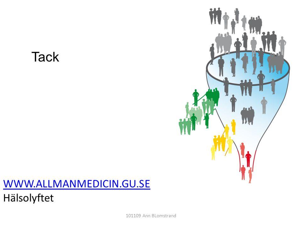 Tack WWW.ALLMANMEDICIN.GU.SE Hälsolyftet 101109 Ann BLomstrand