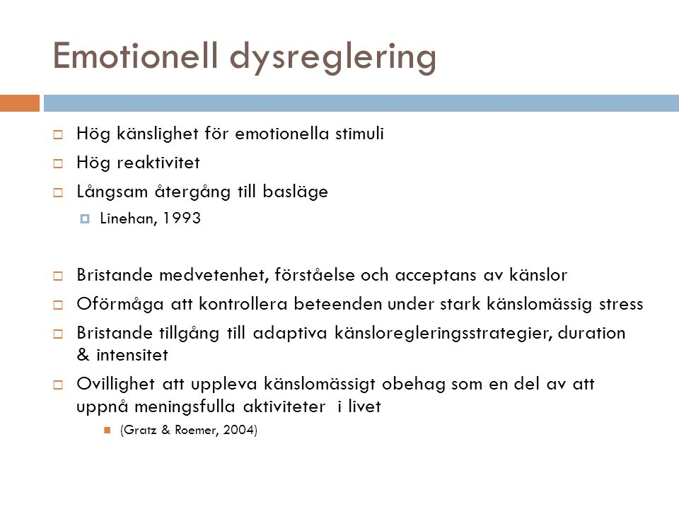 Emotionell dysreglering