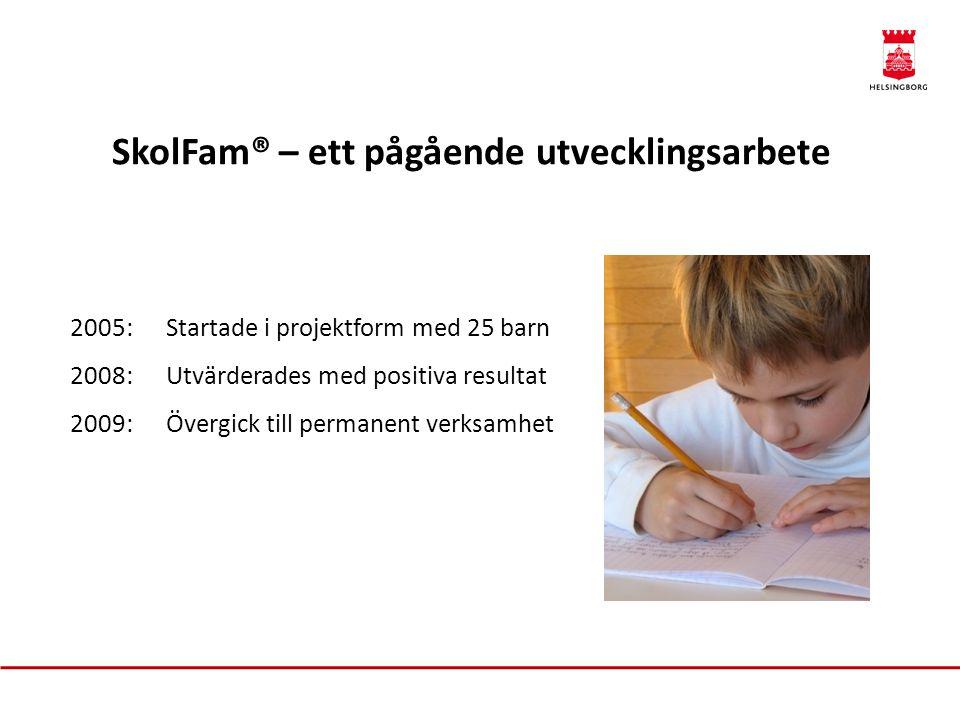SkolFam® – ett pågående utvecklingsarbete