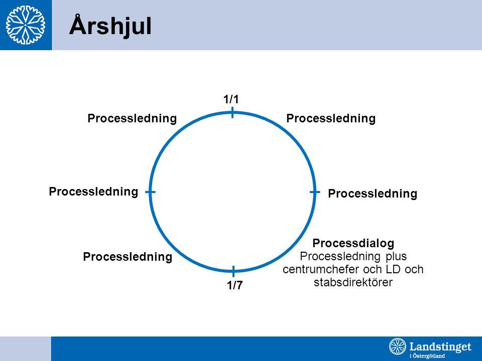 Årshjul Processledning 1/1 Processledning Processledning