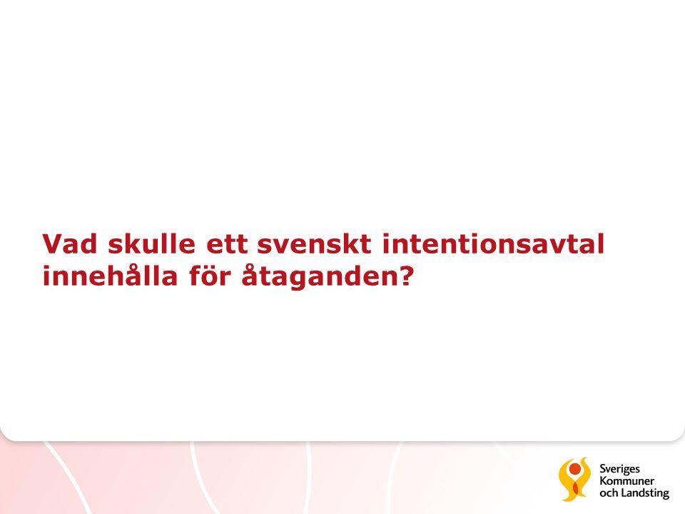 Vad skulle ett svenskt intentionsavtal innehålla för åtaganden