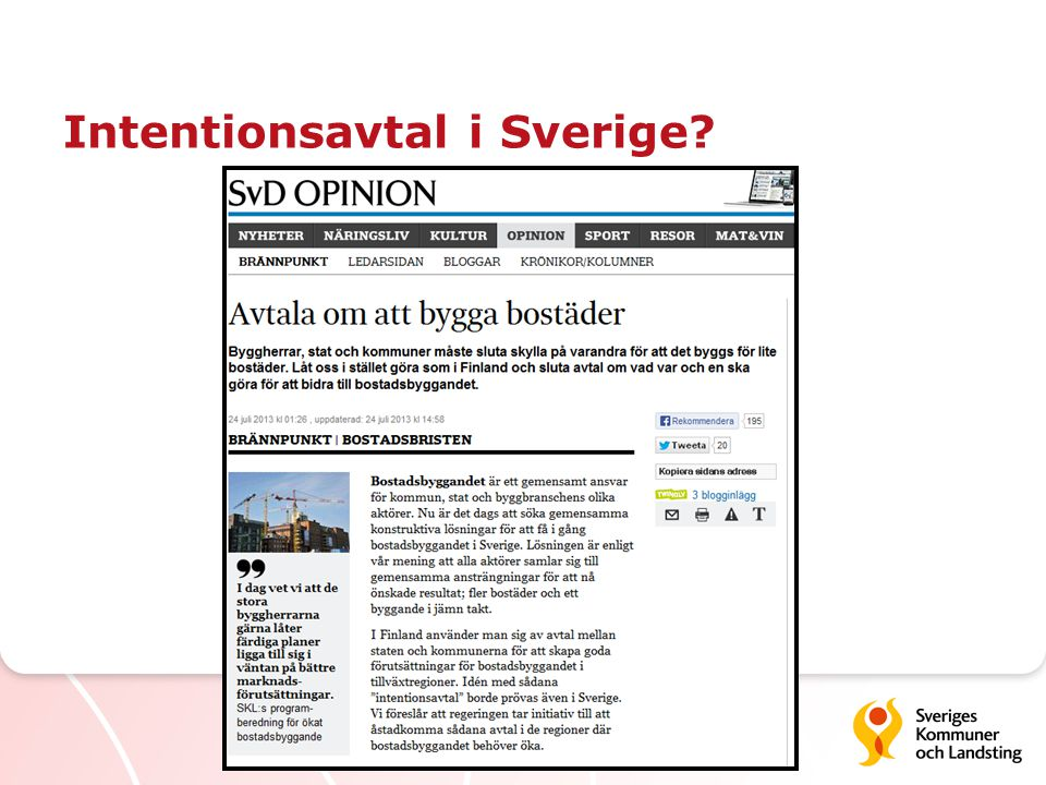 Intentionsavtal i Sverige