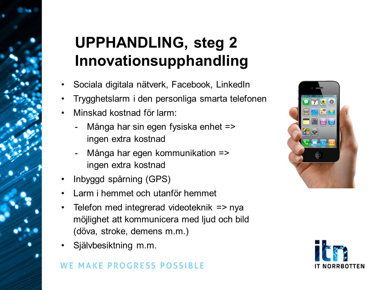 UPPHANDLING, steg 2 Innovationsupphandling