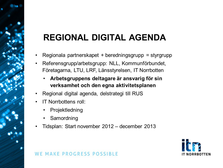 REGIONAL DIGITAL AGENDA