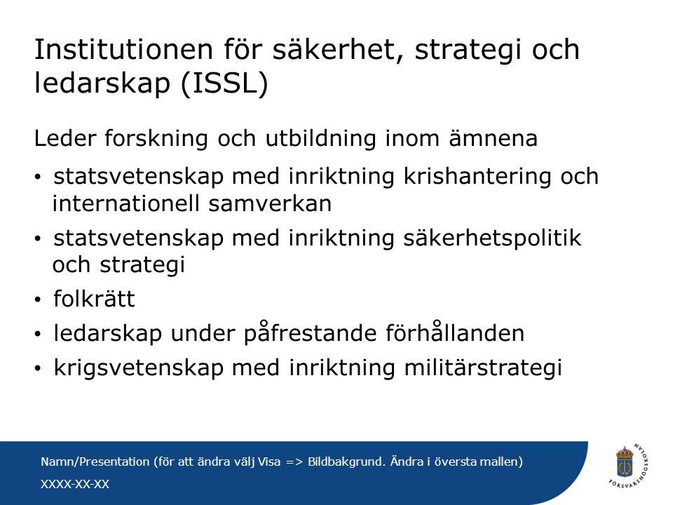 Institutionen för säkerhet, strategi och ledarskap (ISSL)