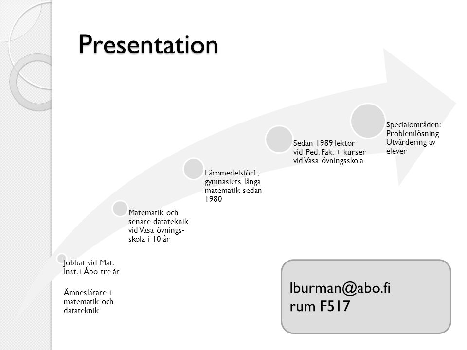 Presentation lburman@abo.fi rum F517