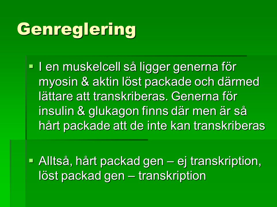 Genreglering