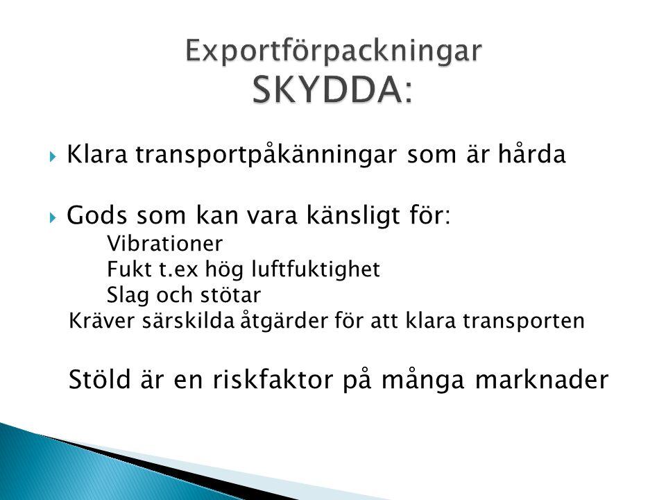 Exportförpackningar SKYDDA:
