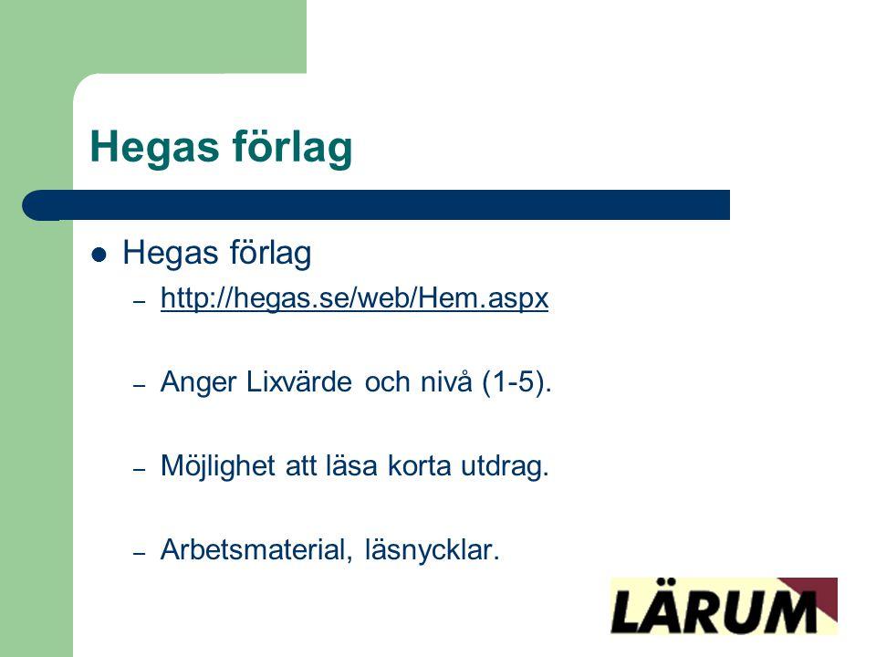 Hegas förlag Hegas förlag http://hegas.se/web/Hem.aspx