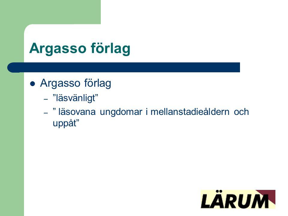 Argasso förlag Argasso förlag läsvänligt