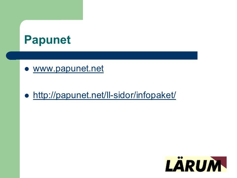 Papunet www.papunet.net http://papunet.net/ll-sidor/infopaket/