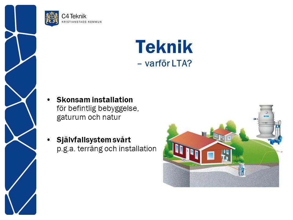 Teknik – varför LTA. Skonsam installation för befintlig bebyggelse, gaturum och natur.