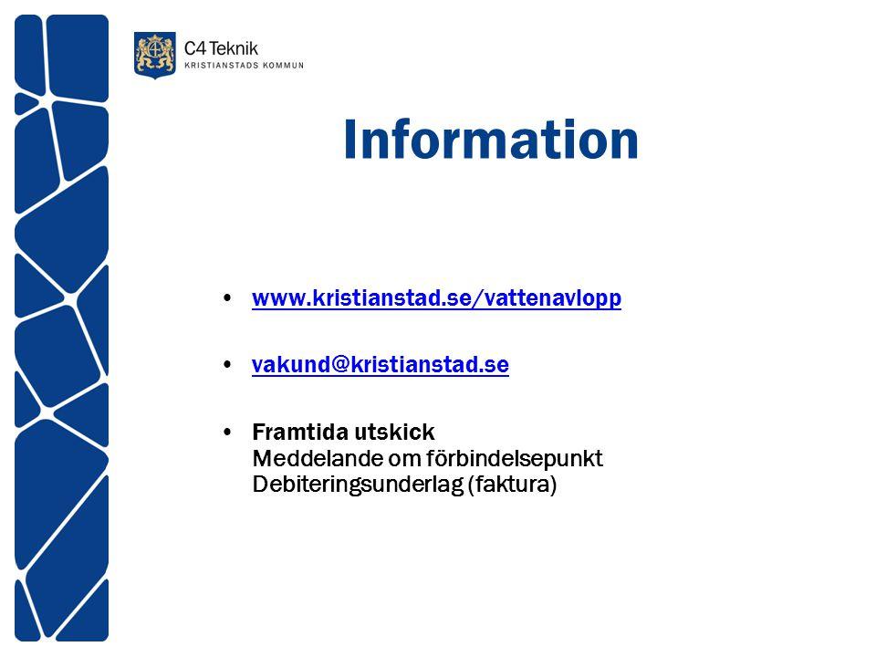 Information www.kristianstad.se/vattenavlopp vakund@kristianstad.se
