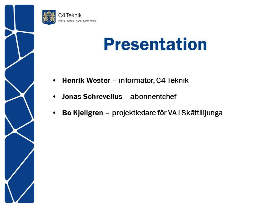 Presentation Henrik Wester – informatör, C4 Teknik
