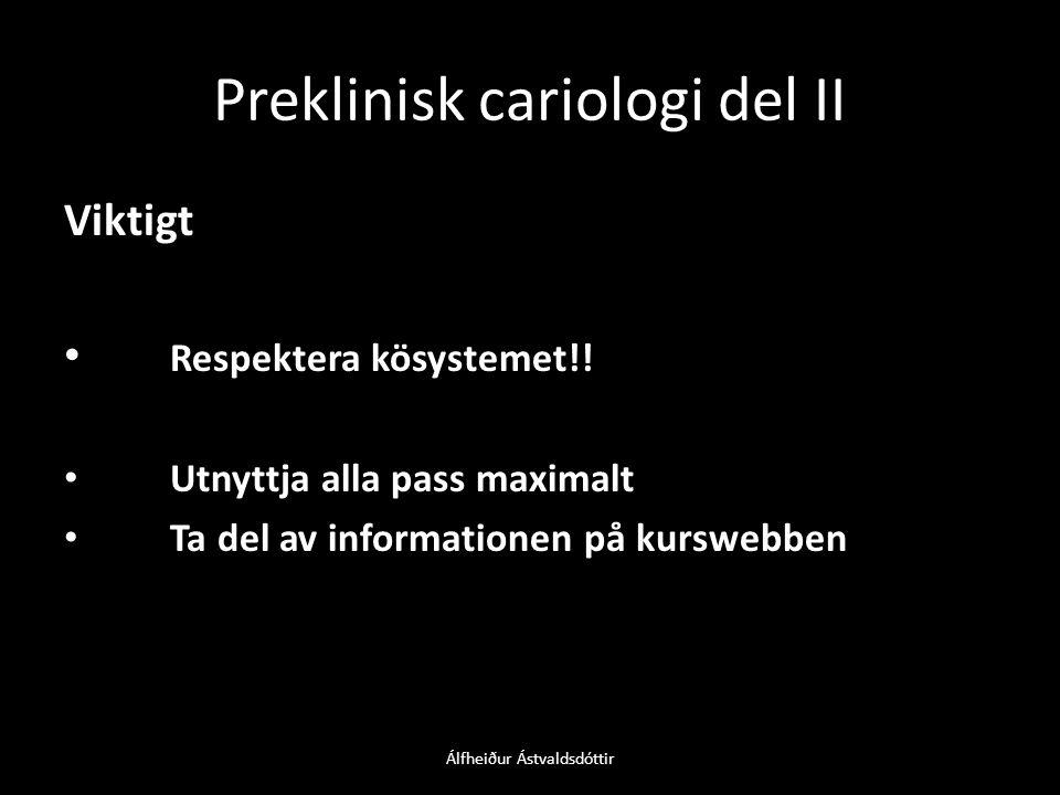 Preklinisk cariologi del II