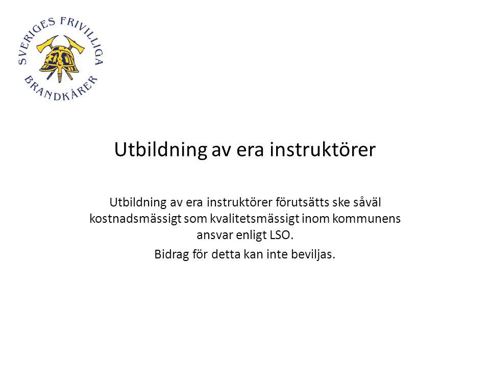 Utbildning av era instruktörer