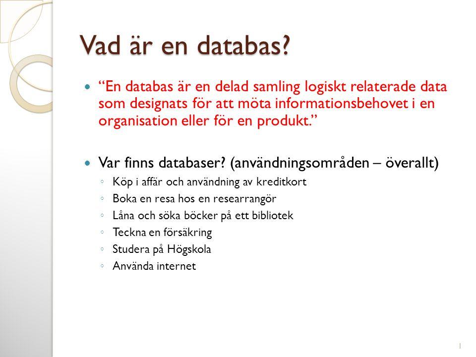 Vad är en databas