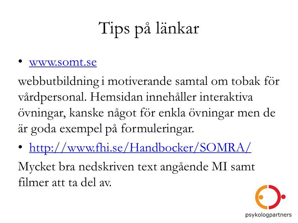 Tips på länkar www.somt.se