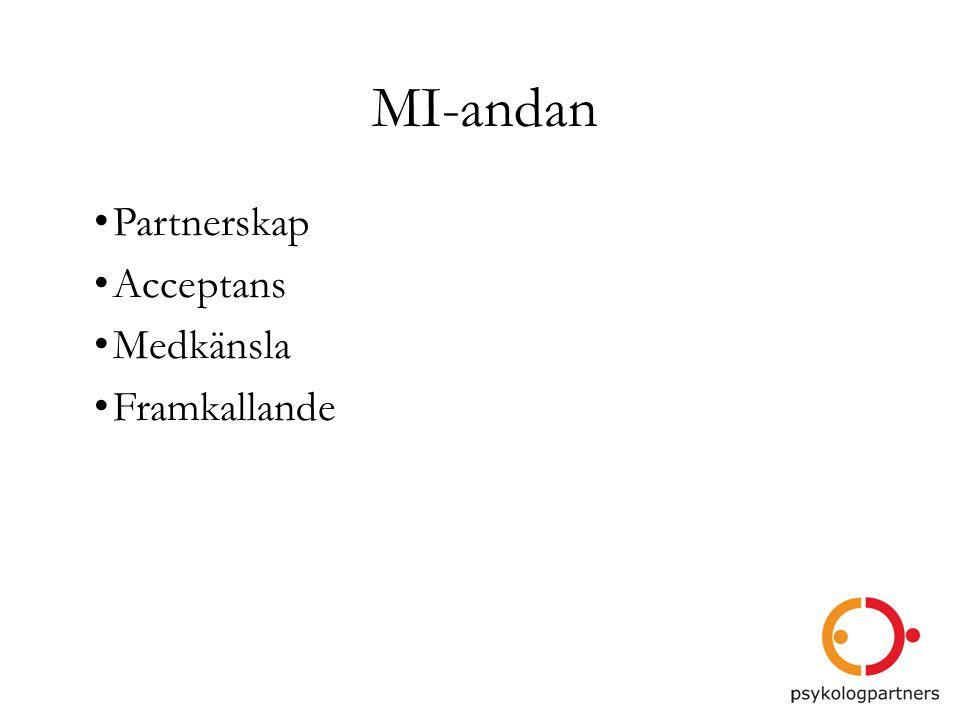 MI-andan Partnerskap Acceptans Medkänsla Framkallande