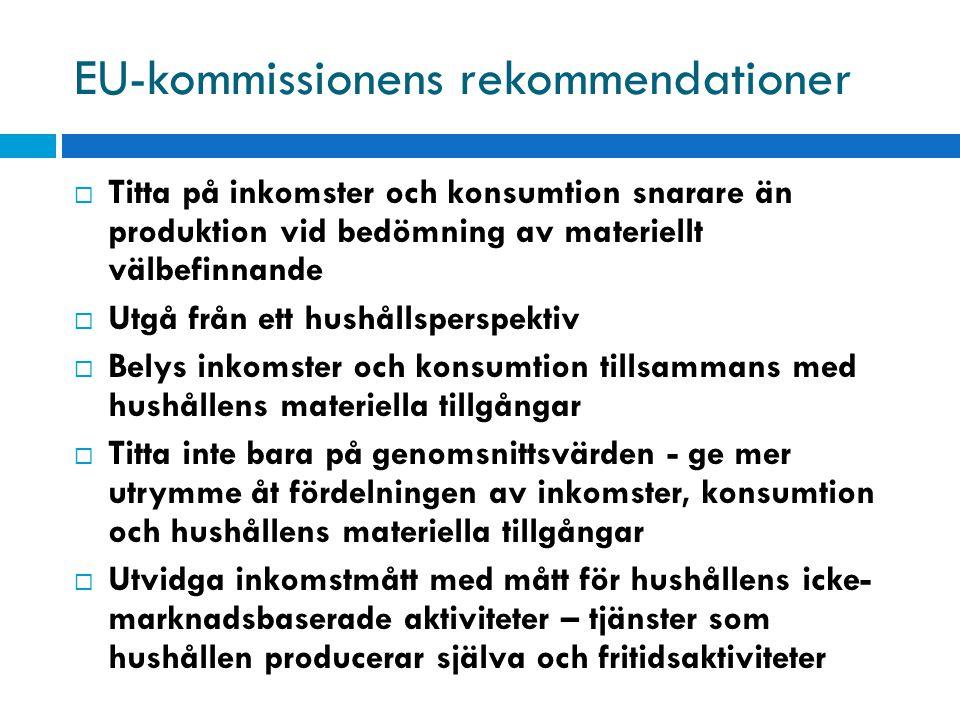 EU-kommissionens rekommendationer