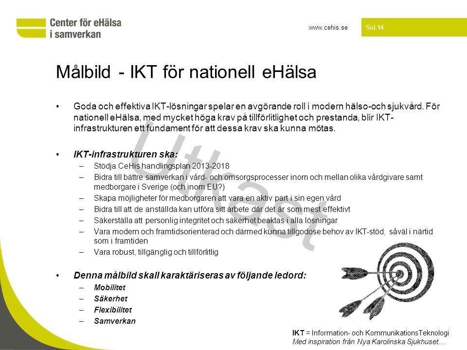 Målbild - IKT för nationell eHälsa
