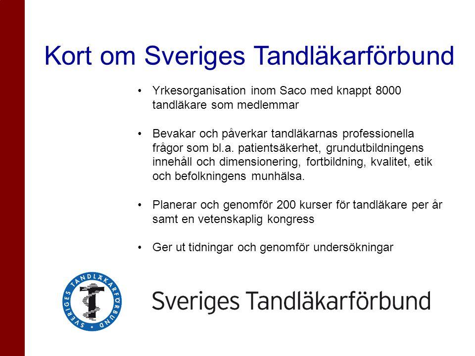 Kort om Sveriges Tandläkarförbund