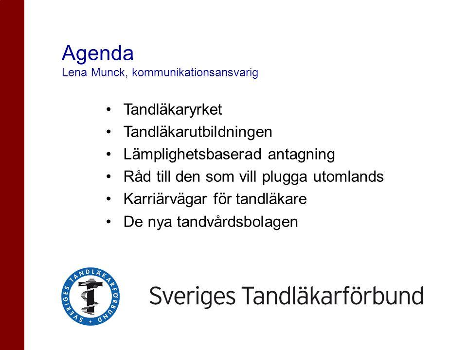 Agenda Lena Munck, kommunikationsansvarig