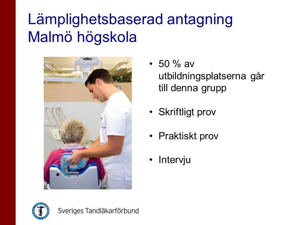 Lämplighetsbaserad antagning Malmö högskola