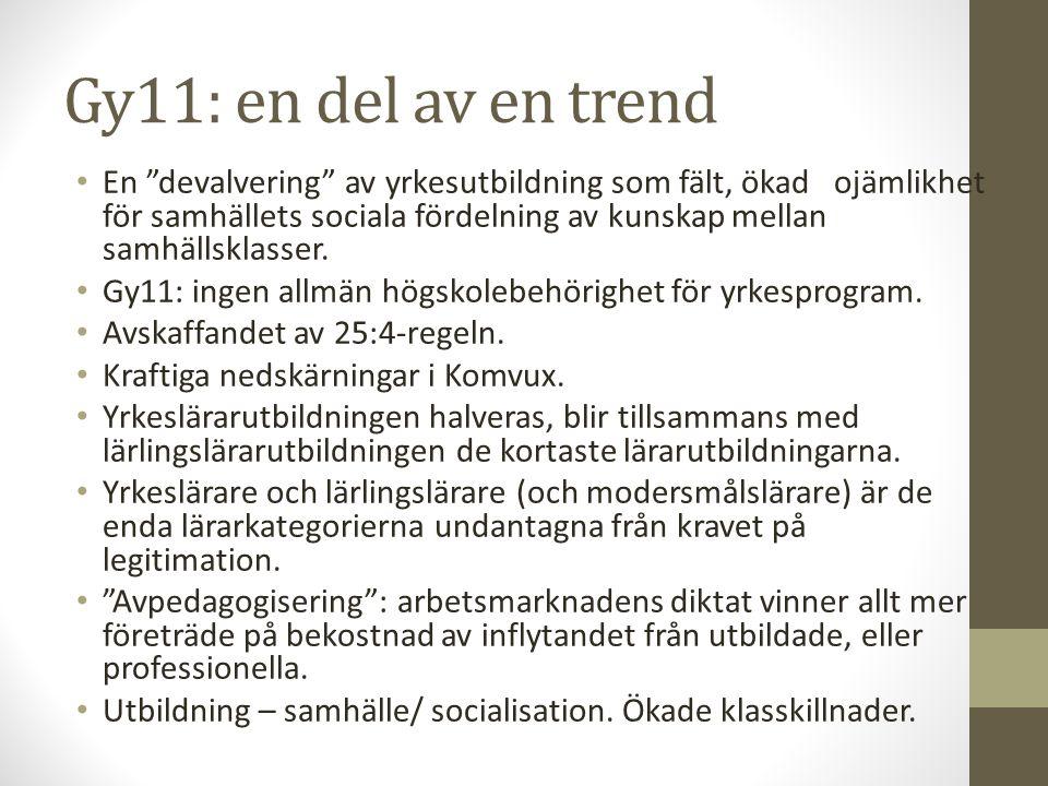 Gy11: en del av en trend