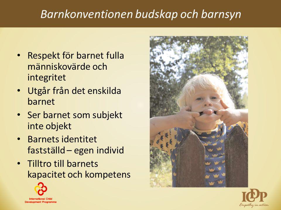 Barnkonventionen budskap och barnsyn