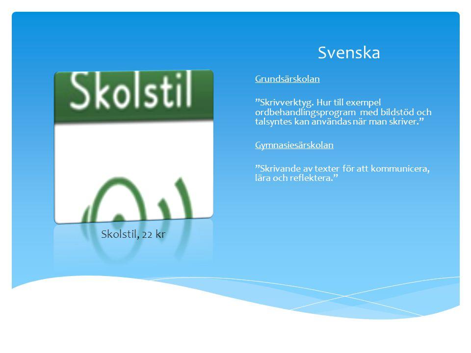 Svenska Skolstil, 22 kr Grundsärskolan