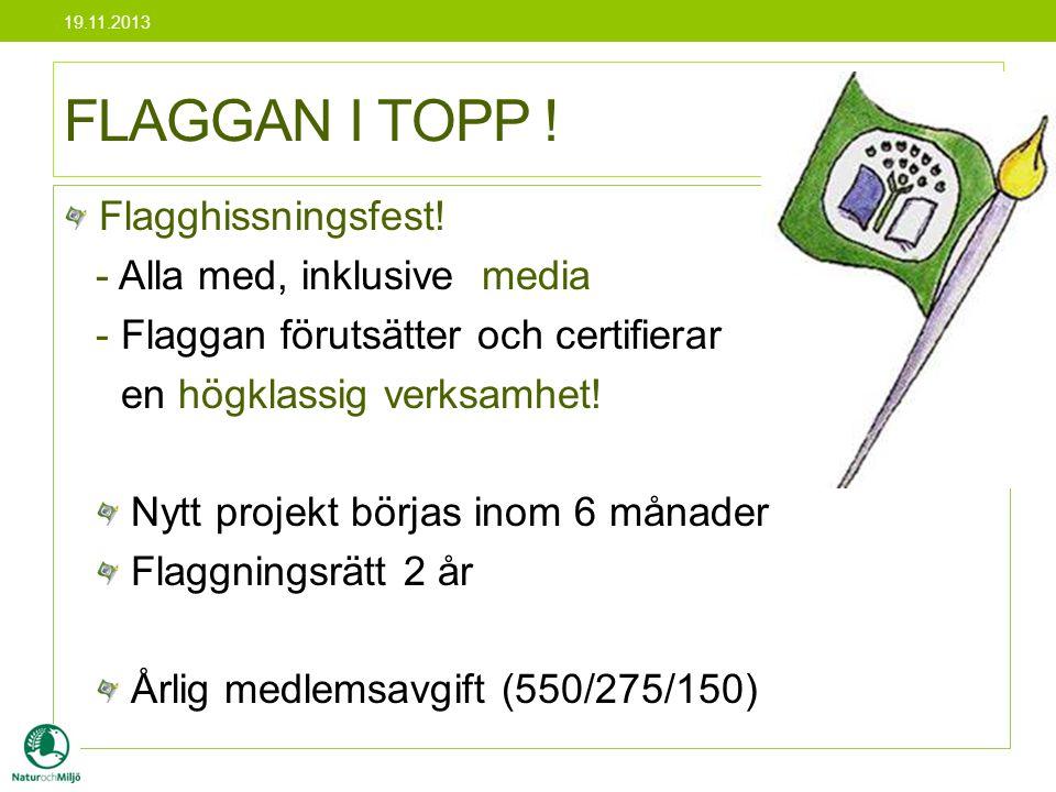 FLAGGAN I TOPP ! Flagghissningsfest! - Alla med, inklusive media
