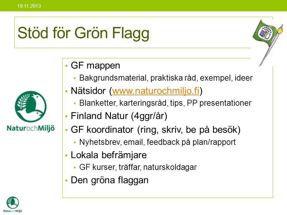 Stöd för Grön Flagg GF mappen Nätsidor (www.naturochmiljo.fi)