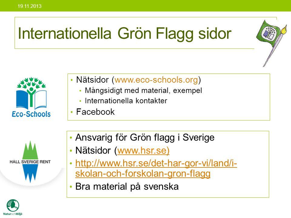 Internationella Grön Flagg sidor