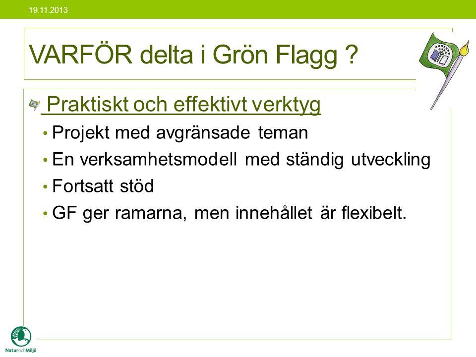 VARFÖR delta i Grön Flagg