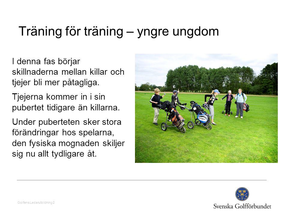 Träning för träning – yngre ungdom