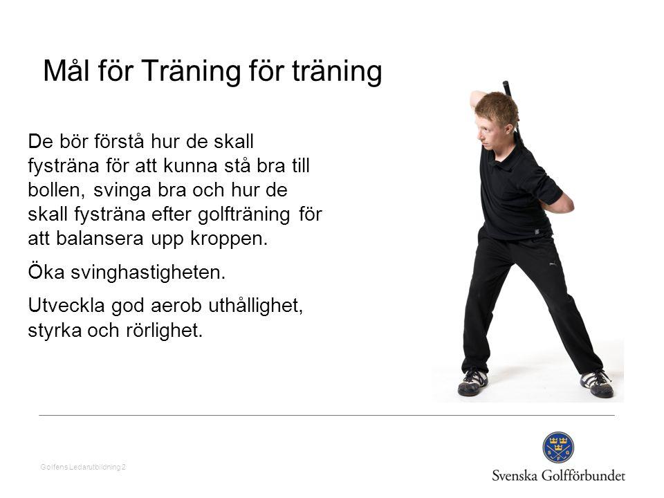 Mål för Träning för träning