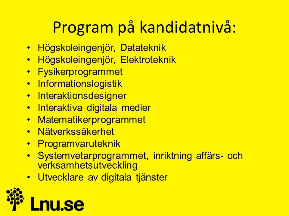Program på kandidatnivå: