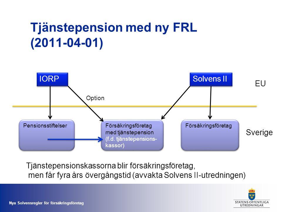 Tjänstepension med ny FRL (2011-04-01)