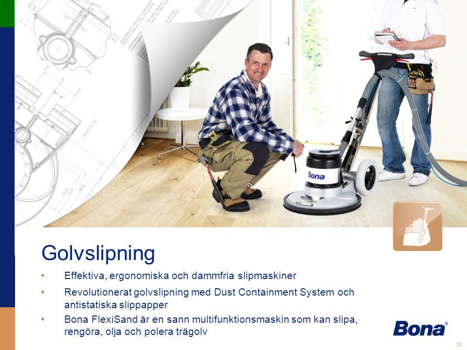 Golvslipning Effektiva, ergonomiska och dammfria slipmaskiner