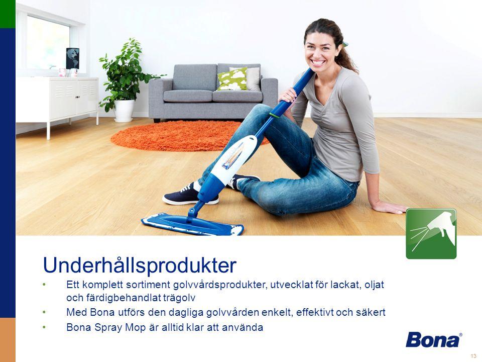 Underhållsprodukter Ett komplett sortiment golvvårdsprodukter, utvecklat för lackat, oljat och färdigbehandlat trägolv.