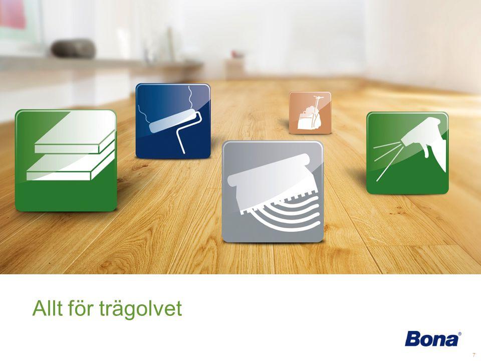 Följande bilder visar Bonas produktkategorier samt exampel på några produkter.