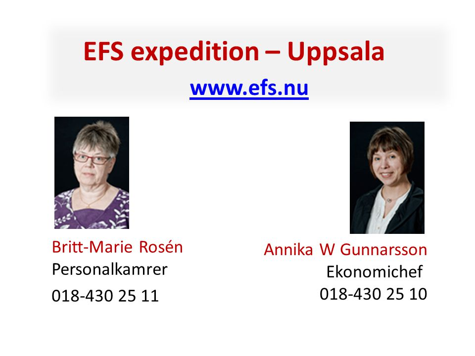 EFS expedition – Uppsala