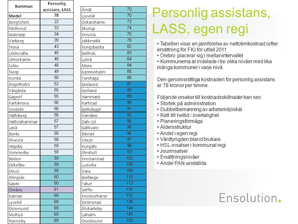 Personlig assistans, LASS, egen regi