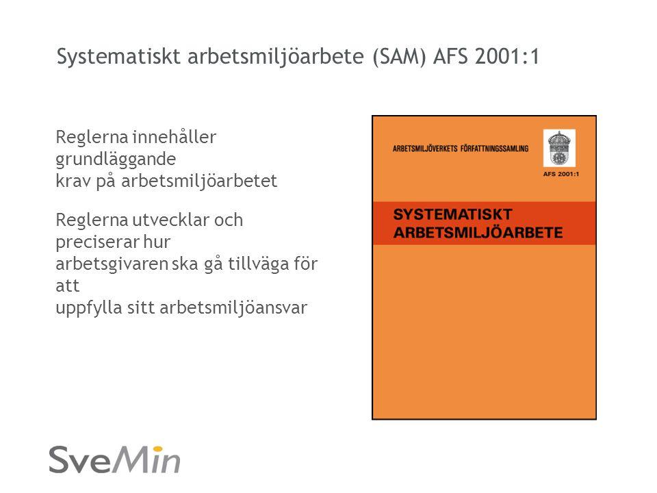 Systematiskt arbetsmiljöarbete (SAM) AFS 2001:1