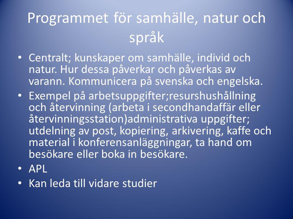 Programmet för samhälle, natur och språk
