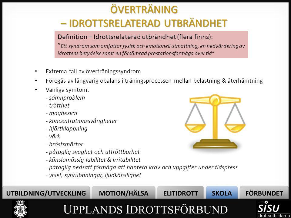ÖVERTRÄNING – IDROTTSRELATERAD UTBRÄNDHET