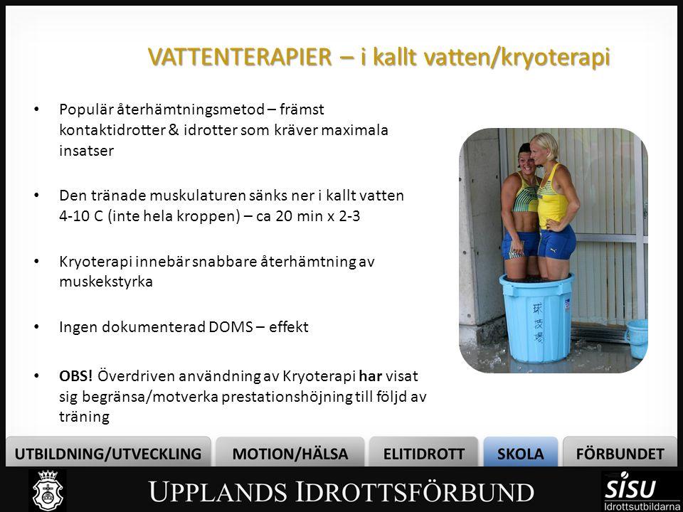 VATTENTERAPIER – i kallt vatten/kryoterapi