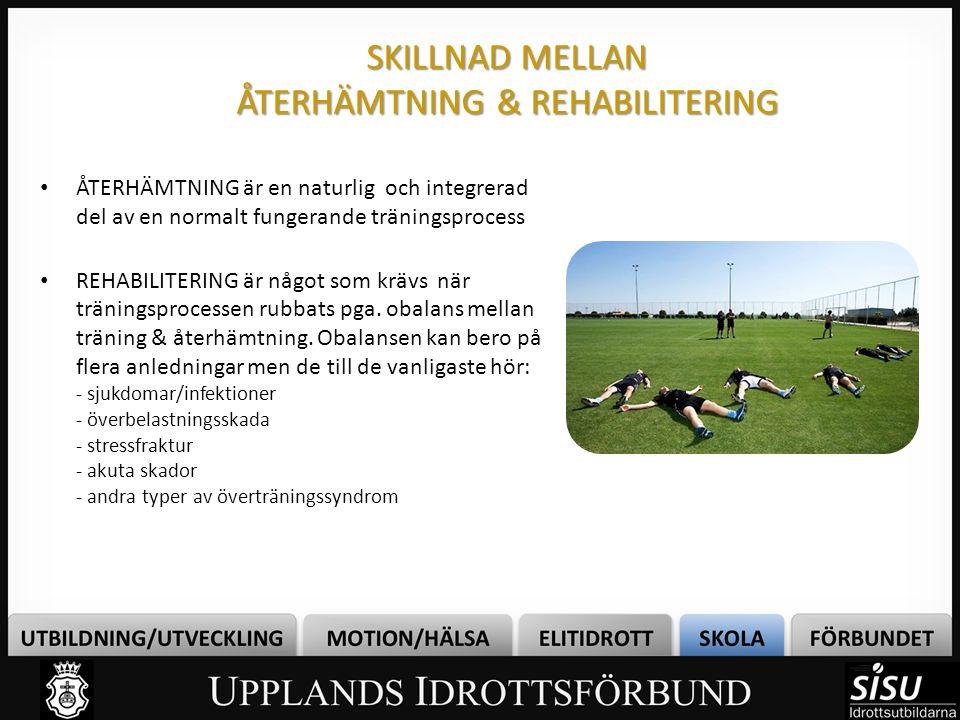 SKILLNAD MELLAN ÅTERHÄMTNING & REHABILITERING
