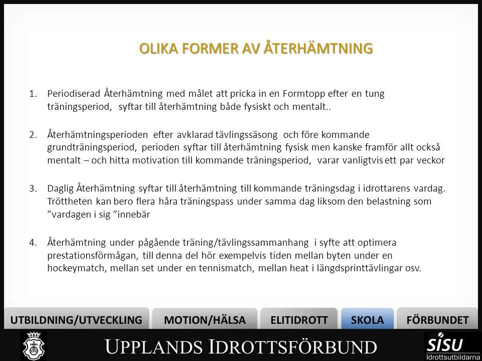 OLIKA FORMER AV ÅTERHÄMTNING